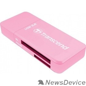 Устройство считывания Устройство чтения/записи флеш карт Transcend RDF5, SD/microSD, USB 3.0, Розовый