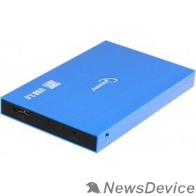 "Контейнер для HDD Gembird EE2-U3S-56 Внешний корпус 2.5"" синий металлик, USB 3.0, SATA, алюминий"