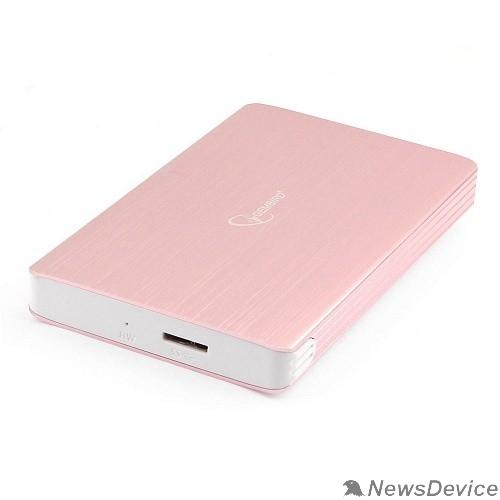 "Контейнер для HDD Gembird EE2-U3S-65 Внешний корпус 2.5"" розовое золото, USB 3.0, SATA, алюминий"