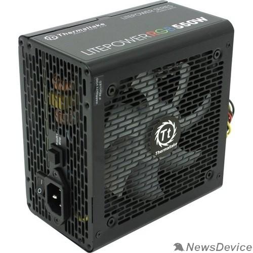 Блок питания Блок питания Thermaltake Litepower RGB 550W PS-LTP-0550NHSANE-1  <550W, (20+4+4+4) pin, 2x(6+2) pin, 5xSATA, 4xMolex, FDD, 12 см,кабель питания