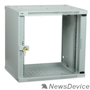 Монтажное оборудование ITK LWE3-09U66-GF Шкаф LINEA WE 9U 600 600мм дверь стекло серый