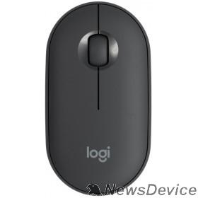 Мышь 910-005718 Мышь Logitech Pebble M350 графитовый оптическая (1000dpi) silent беспроводная BT USB для ноутбука (3but)