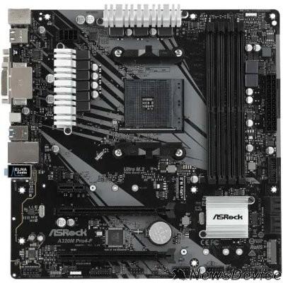 Материнская плата AsrockA320M PRO4-F AMD AM4 A320/4DDR4/4SATA3