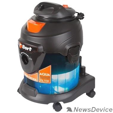 Пылесосы Bort Пылесос для сухой и влажной уборки BSS-1415-Aqua 15 л; 1400 Вт; 22 кПа;Пылесос для влажной уборки ;  6,6 кг;  220...230 В; набор аксессуаров 5 шт 93410174