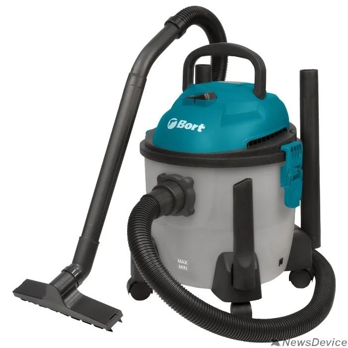 Пылесосы Bort Пылесос для сухой и влажной уборки BSS-1215-Aqua Расход воздуха 30 л/сек; 58 л/сек; Вместимость бака 15 л; Потребляемая мощность 1250 Вт; гарантия 2 г 93410891