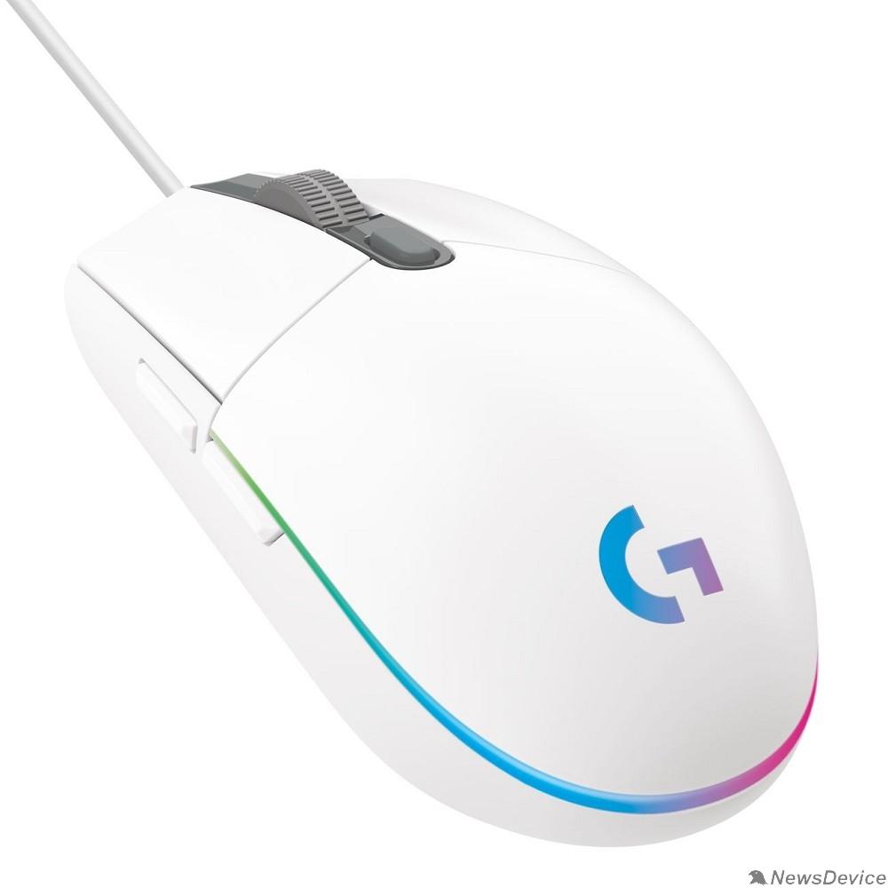 Мышь 910-005824 Мышь Logitech G102 LIGHTSYNC белый оптическая (8000dpi) USB (6but)