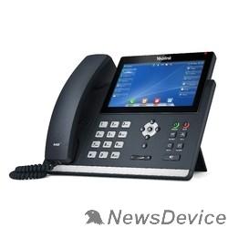 VoIP-телефон YEALINK SIP-T48U цветной сенсорный экран, 16 аккаунтов, BLF, PoE, GigE, без БП