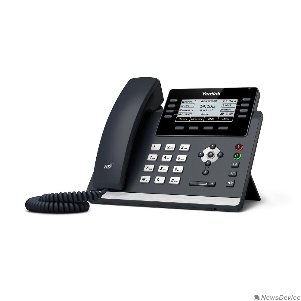 VoIP-телефон YEALINK SIP-T43U 12 аккаунтов, 2 порта USB, BLF, PoE, GigE, без БП, шт