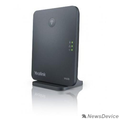 VoIP-телефон YEALINK W60B DECT, базовая станция, 8 SIP-аккаунтов, до 8 трубок на базу, 8 одновременных разговоров