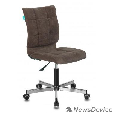 Офисное кресло или стул Бюрократ CH-330M/LT-10 без подлокотников темно-коричневый Light 10 крестовина металл (1140643)