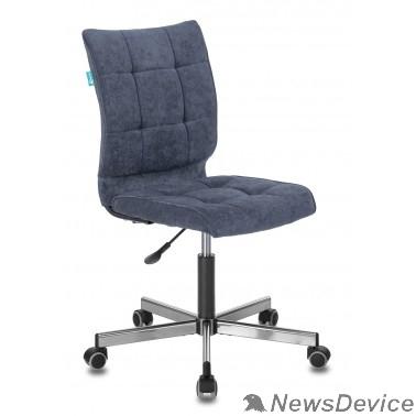 Офисное кресло или стул Бюрократ CH-330M/LT-27 без подлокотников темно-синий крестовина металл (1140648)