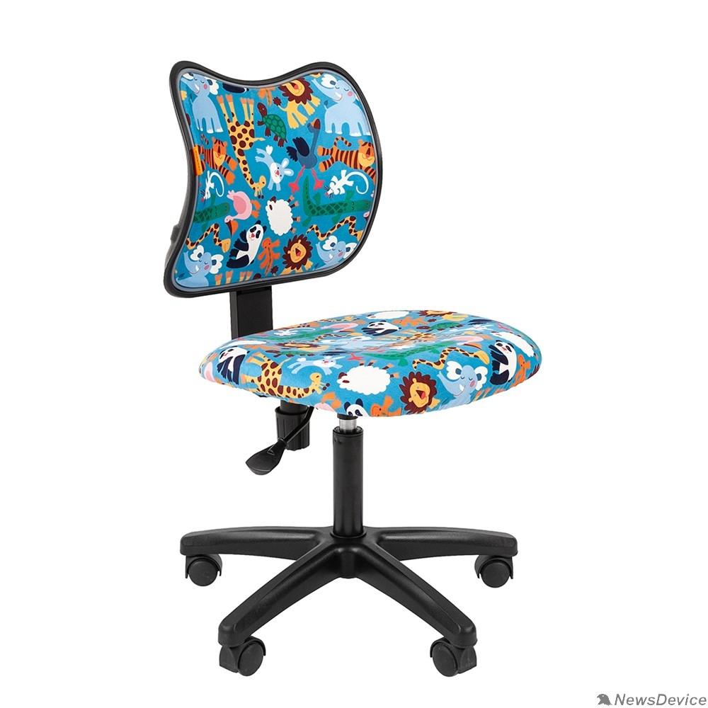 Офисные кресла Кресло Chairman Kids 102 Россия ткань зоопарк (чер) (7036637)