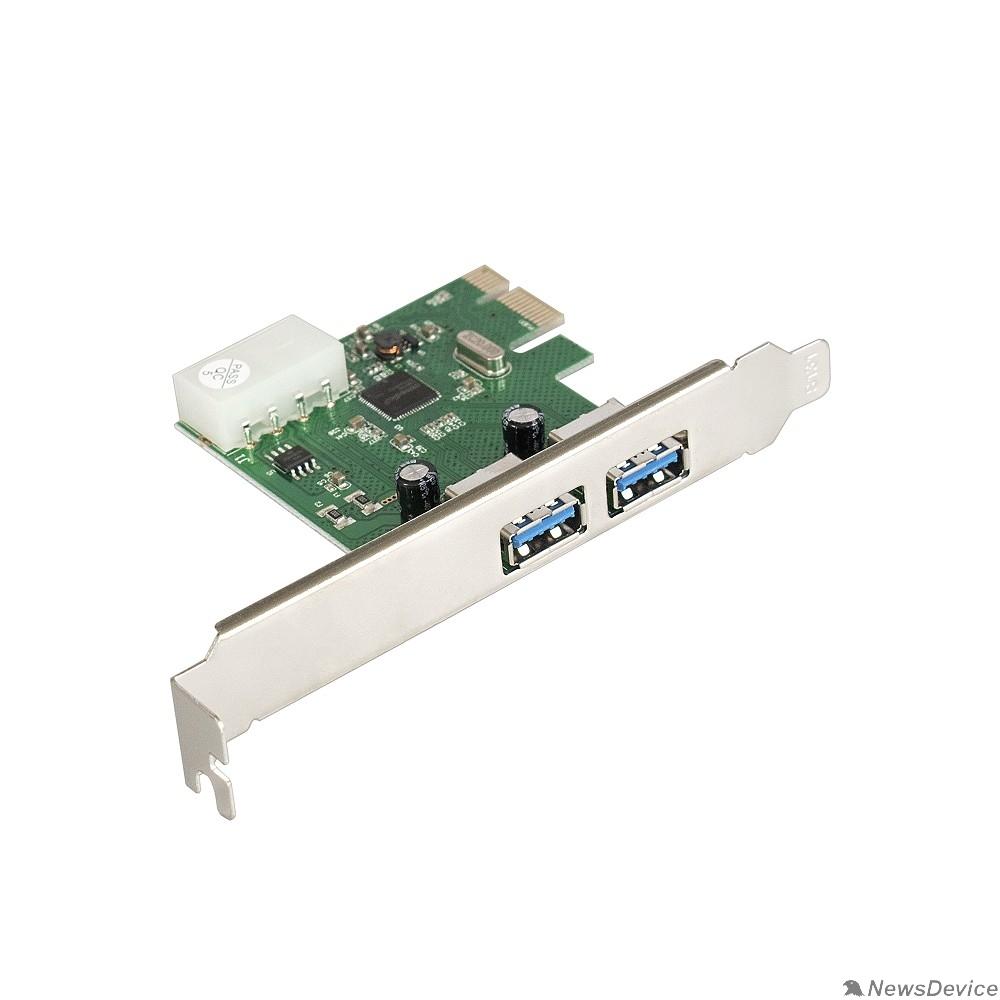 USB-концентраторы Exegate EX283718RUS Контроллер EXE-319 PCI-E 2.0, 2*USB3.0 ext, разъем доп.питания (OEM)