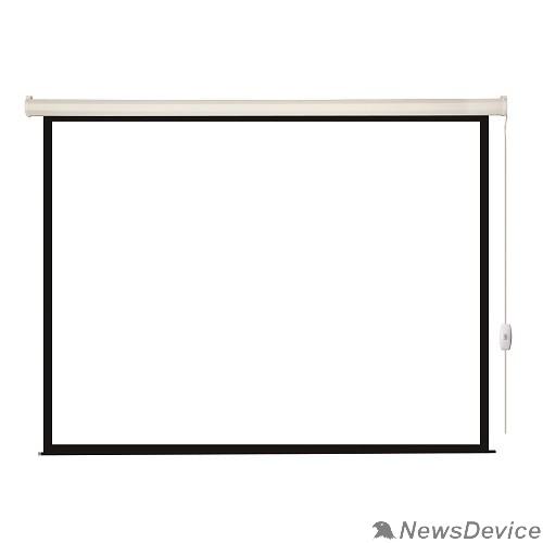 Экраны LUMIEN Lumien Eco Control LEC-100102 Экран с электроприводом 203x203 см (раб. область 197х197 см) Matte White черная кайма по периметру 1:1