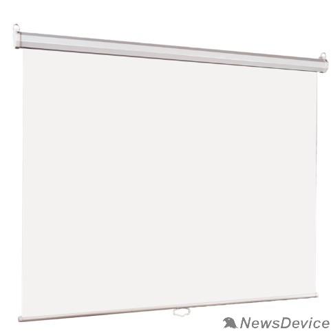 Экраны LUMIEN Lumien Eco Picture LEP-100108 Настенный экран  180х180см (рабочая область 174х174 см) Matte White восьмигранный корпус, возможность потолочн./настенного крепления, уровень в комплекте, 1:1 (треуголь