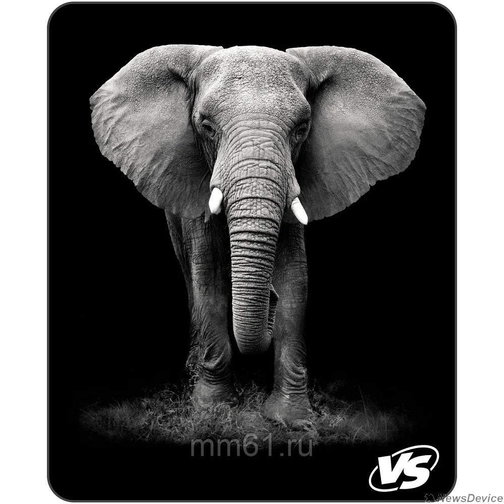 """Коврики VS Коврик для компьютерной мыши """"Фауна"""", """"Слон"""" (194*233*3 мм),полипропилен+вспененный пластик VS_A4812"""