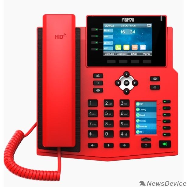VoIP-телефон Fanvil X5U RED SIP телефон красн., с б/п