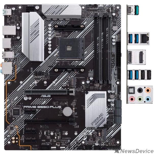 Материнская плата Материнская плата Asus PRIME B550-PLUS Soc-AM4 AMD B550 4xDDR4 ATX AC`97 8ch(7.1) GbLAN RAID+HDMI+DP