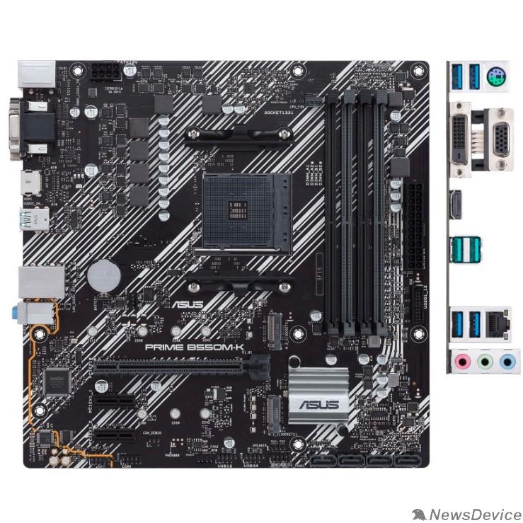 Материнская плата Asus PRIME B550M-K Soc-AM4 AMD B550 4xDDR4 mATX AC`97 8ch(7.1) GbLAN RAID+VGA+DVI+HDMI