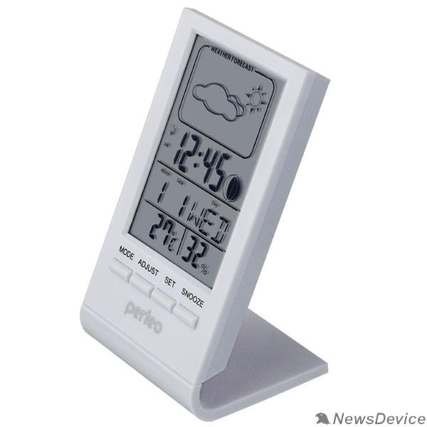 """Колонки Perfeo Часы-метеостанция """"Angle"""", белый, (PF-S2092) время, температура, влажность, дата"""