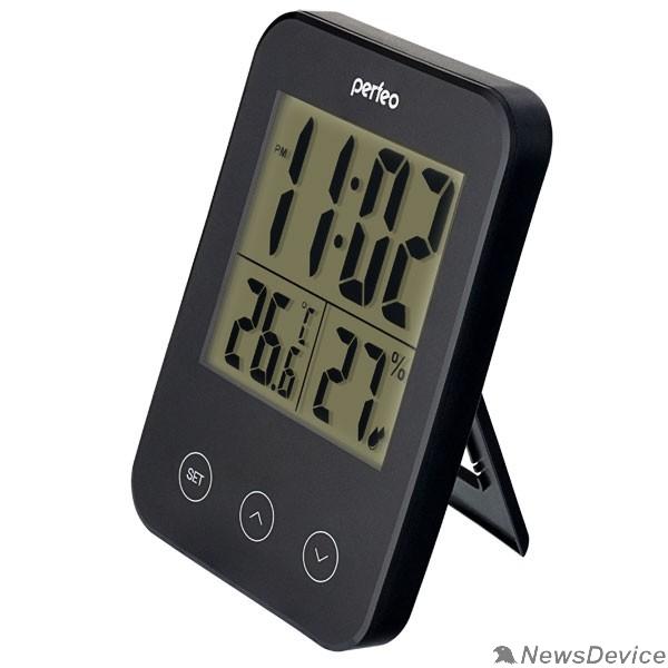 """Колонки Perfeo Часы-метеостанция """"Touch"""", чёрный, (PF-S681) время, температура, влажность"""