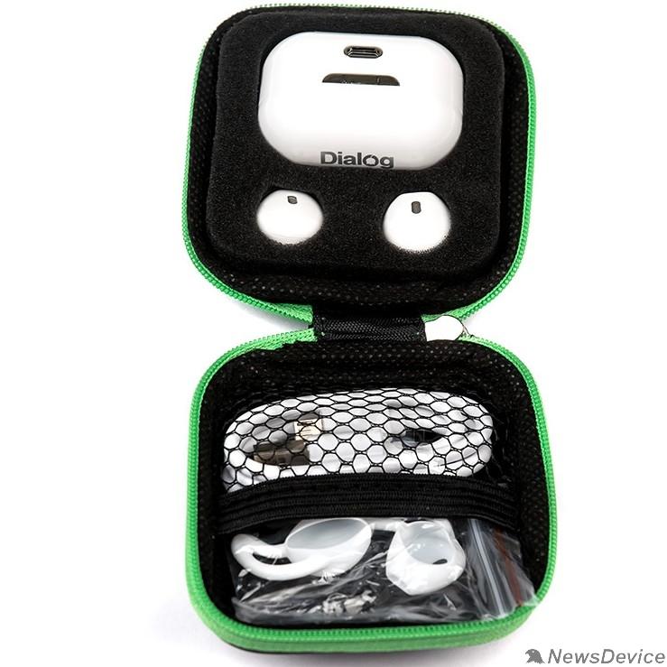 Наушники Dialog  ES-75BT WHITE Bluetooth с кнопкой ответа для мобильных устройств, белая