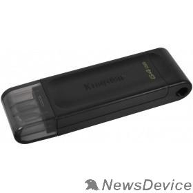 Носитель информации Kingston USB Drive 64Gb DataTraveler 70 DT70/64GB USB3.0 черный