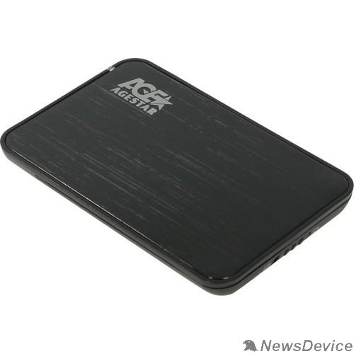 "Контейнер для HDD AgeStar 3UB2A8-6G SATA III Внешний корпус для HDD/SSD пластик/алюминий черный 2.5"""