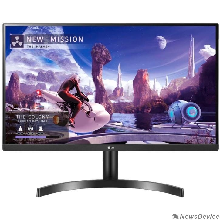 """Монитор LCD LG 27"""" 27QN600-B черный IPS 2560x1440 75Hz 5ms 178/178 8bit(6bit+FRC) 350cd 1000:1  HDR10  Headph.Out vesa"""