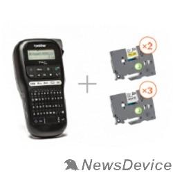 Принтер Brother PTH110R1BUND Принтер для печати наклеек в промо наборе PT-H110 + 5 кассет с лентой (PTH110R1BUND)