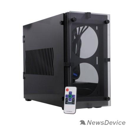 Корпуса GameMax Stratos ITX без БП (Черн., Mini-ITX, зак.стекло,USB3.0, 2*120 вент+пульт)