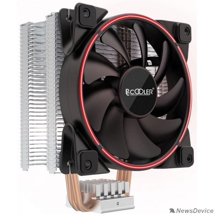 Вентиляторы PCCooler GI-X3R V2 Кулер S775/115X/20XX/AM2/AM3/AM4 (24 шт/кор, TDP 125W, вент-р 120мм с PWM, 3 тепловые трубки 6мм, красная LED подсветка, 1000-1800RPM, 26.5dBa)
