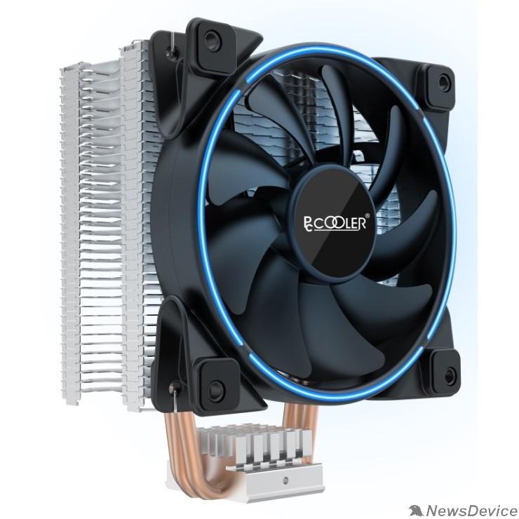 Вентиляторы PCCooler GI-X3B V2 Кулер S775/115X/20XX/AM2/AM3/AM4 (24 шт/кор, TDP 125W, вент-р 120мм с PWM, 3 тепловые трубки 6мм, синяя LED подсветка, 1000-1800RPM, 26.5dBa)