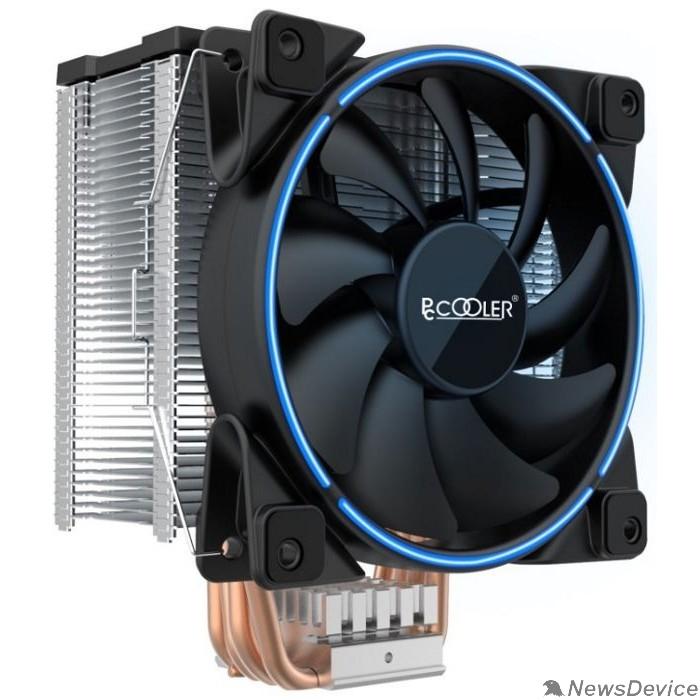 Вентиляторы PCCooler GI-X5B V2 Кулер S775/115X/20XX/AM2/AM3/AM4 (24 шт/кор, TDP 160W, вент-р 120мм с PWM, Blue LED FAN, 5 тепловых трубок 6мм, 1000-1800RPM, 26.5dBa)
