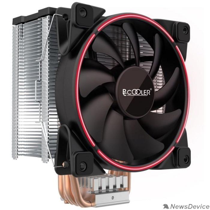 Вентиляторы PCCooler GI-X5R V2 Кулер S775/115X/20XX/AM2/AM3/AM4 (24 шт/кор, TDP 160W, вент-р 120мм с PWM, Red LED FAN, 5 тепловых трубок 6мм, 1000-1800RPM, 26.5dBa)
