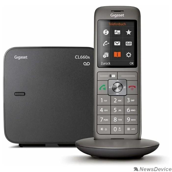 Телефон Gigaset CL660A Радиотелефон Anthracite S30852-H2824-S321