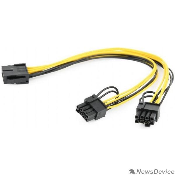 Кабель Cablexpert Кабель питания PCI-Express 8-пин на 6+2 пин x 2 шт., 0.3 м (CC-PSU-85)