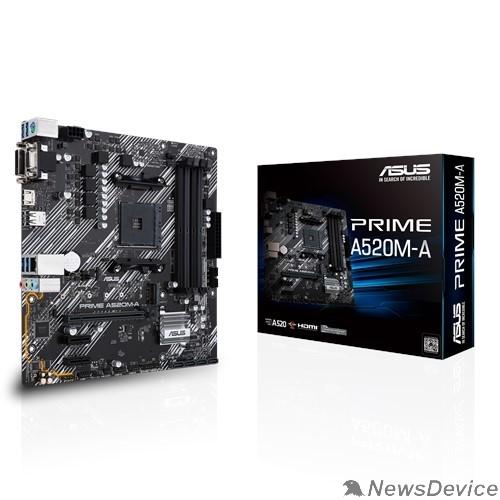 Материнская плата Asus PRIME A520M-A RTL Soc-AM4 AMD A520 4xDDR4 mATX AC`97 8ch(7.1) GbLAN RAID+VGA+DVI+HDMI