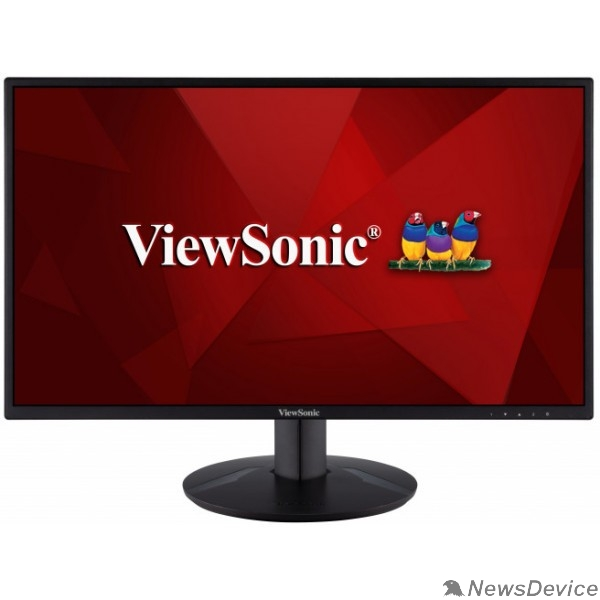 Монитор LCD ViewSonic 23.8'' VA2418-SH черный IPS 1920х1080 75Hz 8bit(6bit+FRC) 250cd 178/178 1000:1 5ms D-Sub HDMI1.4 FlickerFree Adaptive-Sync Tilt AudioOut VESA VS16422