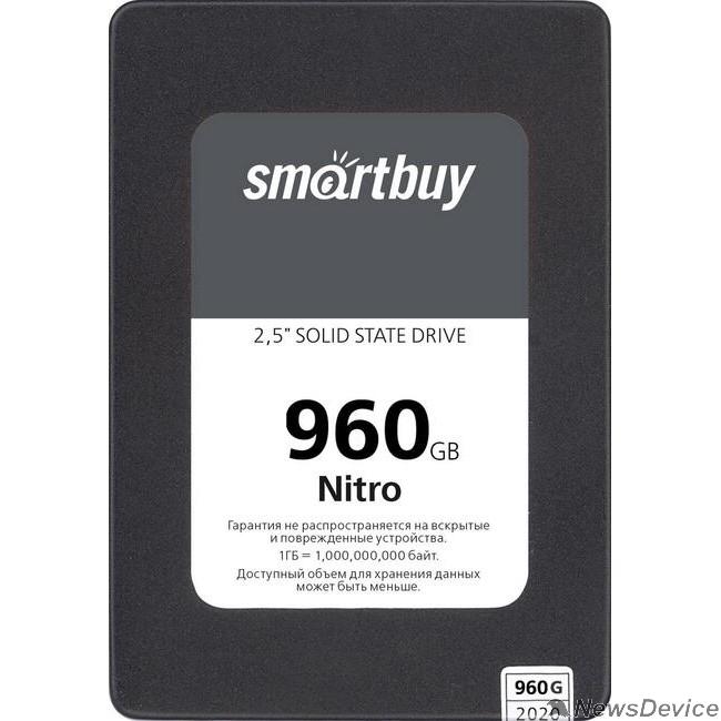 накопитель Smartbuy SSD 960Gb Nitro SBSSD-960GQ-MX902-25S3 SATA3.0, 7mm