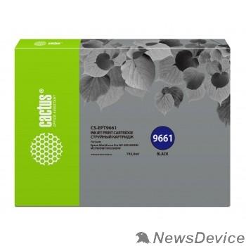 Расходные материалы CACTUS CS-EPT9661  Картридж для Epson WorkForce Pro WF-M5299DW/M5799DWF, черный (795мл)