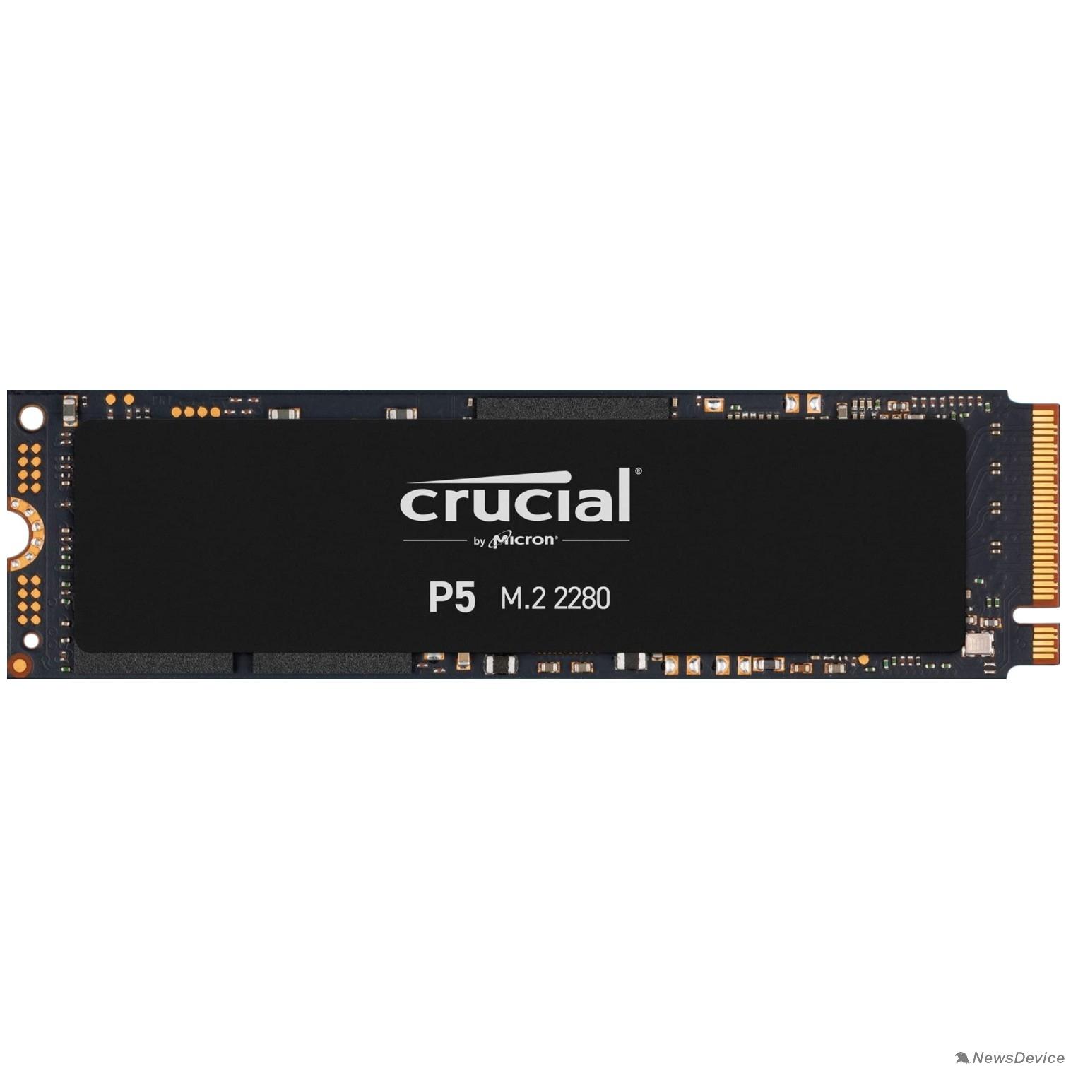 накопитель Crucial SSD 250GB P5 M.2 NVMe PCIEx4 80mm Micron 3D NAND  3400/1400 MB/s, CT250P5SSD8