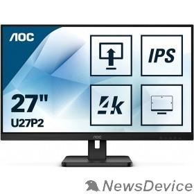 """Монитор LCD AOC 27"""" U27P2 черный IPS 3840x2160 4ms 178/178 350cd 1000:1 75Hz 10bit(8bit+FRC) HDMI2.0 DisplayPort1.2 4xUSB3.2 VESA 2x2W"""