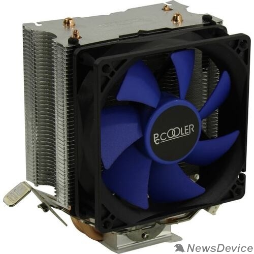 Вентиляторы PCCooler S93 V2 Кулер S775/115X/AM2/AM3/AM4/FM1/FM2 (40 шт/кор, TDP 102W, вент-р 90мм, 2 тепловые трубки 6мм, 2200RPM, 22dBa)