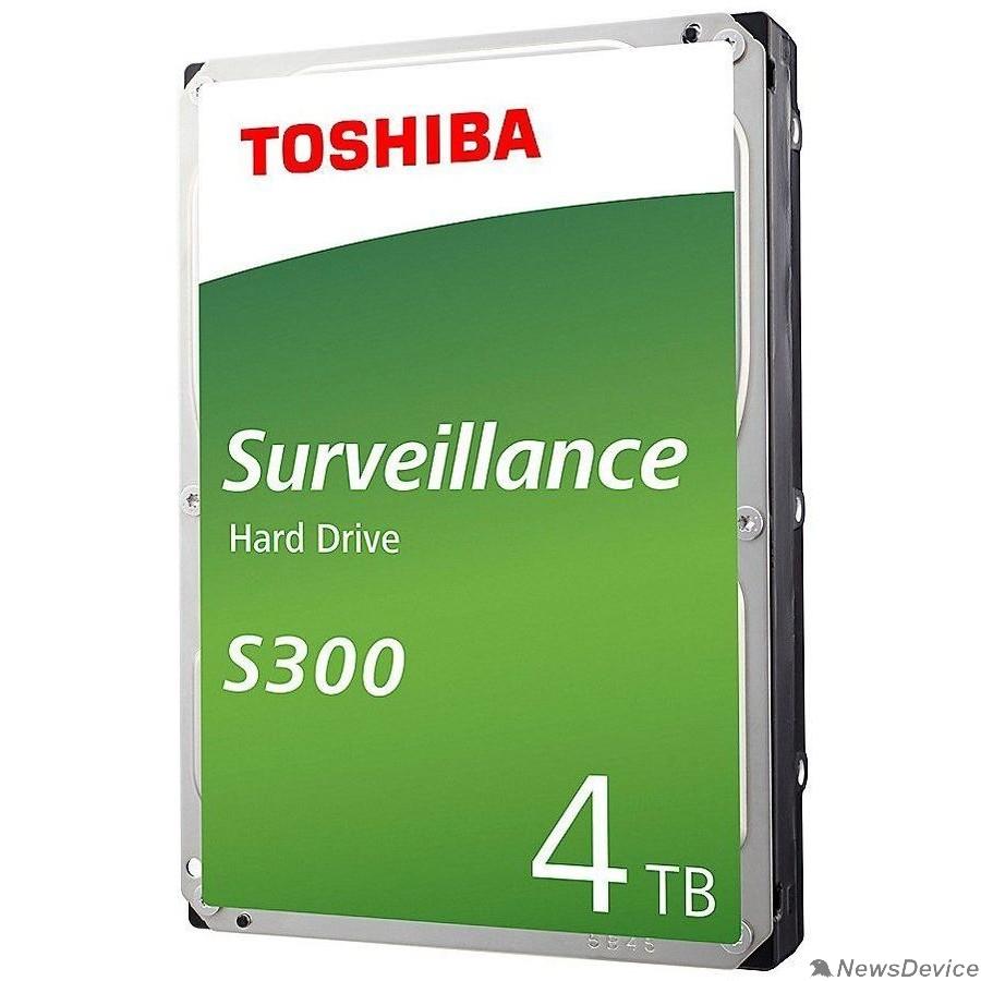"Жесткий диск 4TB Toshiba Surveillance S300 (HDWT740UZSVA/HDKPB02Z0A01F) SATA 6.0Gb/s, 5400 rpm, 128Mb buffer, 3.5"" для видеонаблюдения"