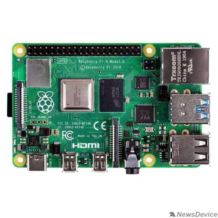 Компьютер Микрокомпьютер Raspberry Pi 4 Model B 2Gb (44588 / RA502)