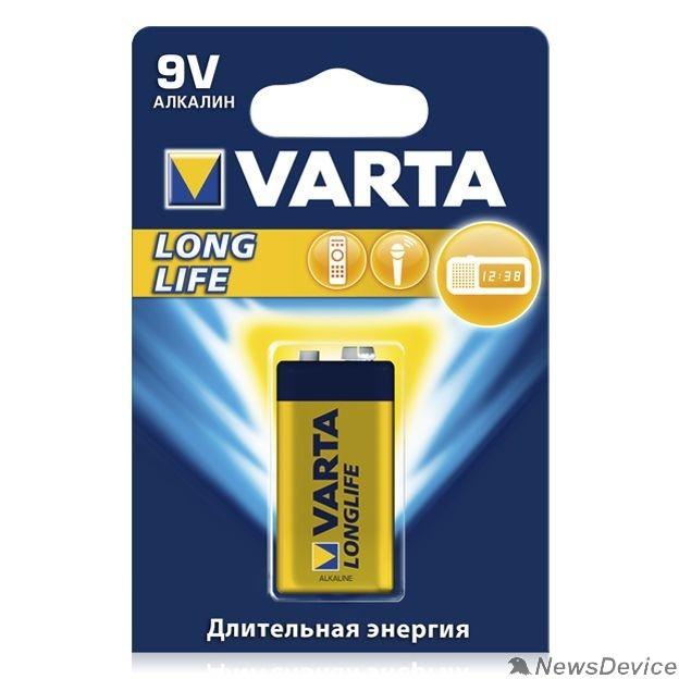 Батарейки  VARTA 6LR61/1BL LONGLIFE POWER 4922 (HIGH ENERGY)  (1 шт. в уп-ке)