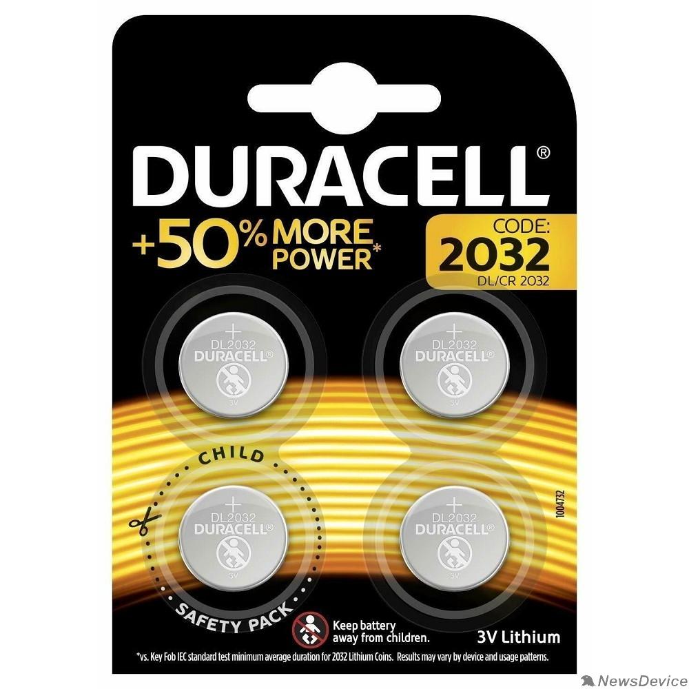 Батарейки Duracell CR2032/4BL (4 шт. в уп-ке)