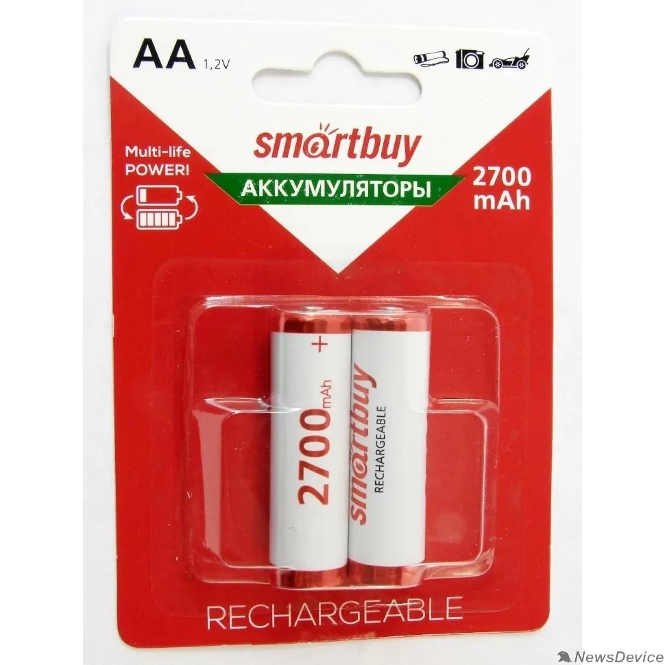 Аккумулятор Smartbuy AA/2BL 2700 mAh (24/240) (SBBR-2A02BL2700) (2шт. в уп-ке)