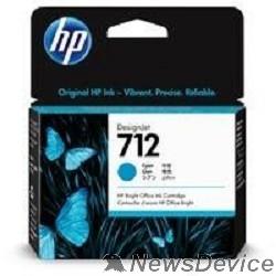 Расходные материалы Картридж струйный HP 712 3ED67A голубой (29мл) для HP DJ Т230/630